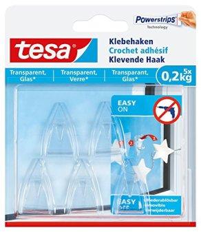 tesa-Klebehaken-transparent-fr-zB-Glas-02-kg-Halteleistung