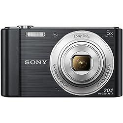 Sony Cybershot DSC-W810/B 20.1MP Digital Camera Memory Card 16GB (Black) + Bag