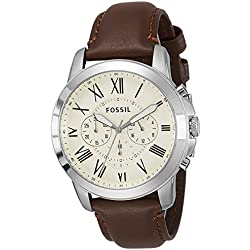 Fossil Grant Chronograph Beige Dial Men's Watch - FS4735
