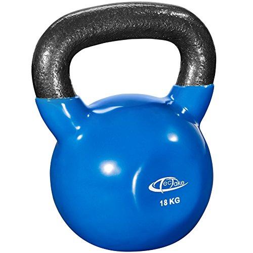 TecTake Kettlebell peso per ginnastica | Rivestimento proteggi-pavimento in vinile antiscivolo |...
