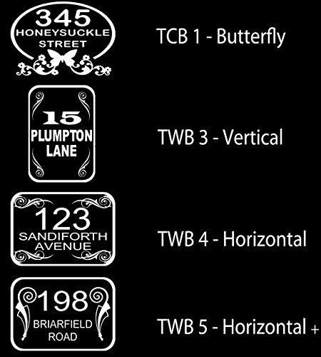 4 large personalised wheelie bin number stickers