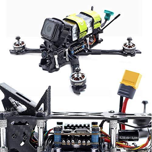 Mobiliarbus RC Racing Quadcopter GEPRC Mark2 BNF con Ricevitore Frsky R-XSR 230mm 2-5S 40A BLHeli_s 600TVL Drone FPV in Fibra di Carbonio 3K Completo 3K per Allenamento in Competizione