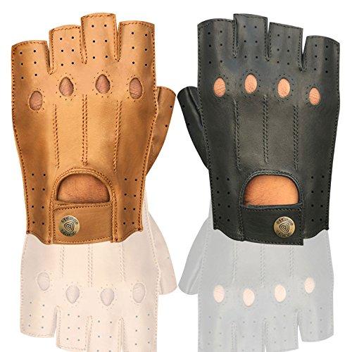 Prime Leather Guanti Palestra sollevamento pesi in pelle Imbottito ,Bodybulding ,Crossfit ,...