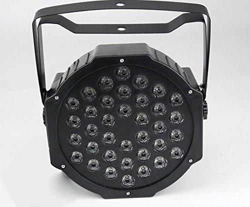FARO STROBO RGB DJ FARETTO LAMPADA 18 LED DA 18W COLORI EFFETTO DISCOTECA SENSORE SONORO MIC DMX...