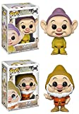 Funko POP! Snow White and the Seven Dwarfs: Dopey + Doc - Disney Vinyl Figure Set NEW