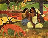 STAMPA SU TELA - CANVAS - Paul Gauguin - AREAREA - (1892) - 50x70CM - SENZA TELAIO