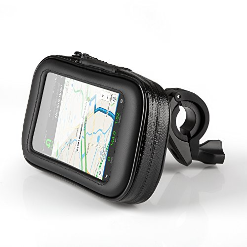 OKCS Fahrradhalterung Lenkradhalterung Bike mit Wasserdichter Schutzhülle Tasche Universal für Smartphones, Handy, Navi, GPS, Etc. in Größe Large
