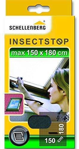 Schellenberg 50329 Fliegengitter mit Reißverschluss   perfekter Insektenschutz für Dachfenster  ...