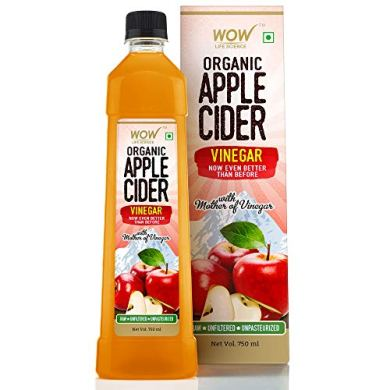 WOW Life Science Organic Apple Cider Vinegar - with strand of mother - not from concentrate – 750 ml 10