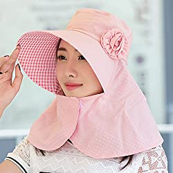 The Summer Sun Visor Hat Female Outdoor Cycling Face Uv Along With A Large Folding Sun Hat,Pink