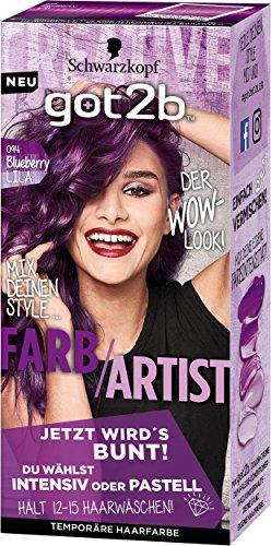 Schwarzkopf Got2b Farb-Artist Haarfarbe, 094 Blueberry Lila, 3er Pack (3 x 80 ml)
