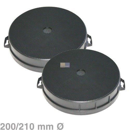 2filtri al carbone attivo, diametro 200x 210mm rotondo per cappe Bosch Siemens Neff n.: 353121