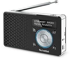 Kaufen TechniSat DIGITRADIO 1 Digital-Radio Made in Germany (Klein, Tragbar, für Outdoor Geeignet) mit Lautsprecher, OLED-Display, DAB+, UKW, Favoritenspeicher und leistungsstarkem Akku, Schwarz/Silber