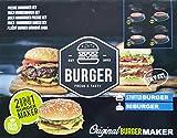Beste Hamburgerpresse die 2in1 Burger Presse für gefüllte Hamburger Geschenkverpackung perfekt für Frikadellen Hackfleisch Cheeseburger Buletten Burgerpresse Patty Maker Grillzubehör BBQ Geschenk