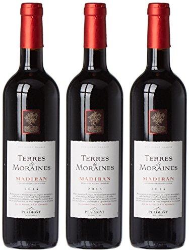 Plaimont Vignobles de Gascogne France Vins du Sud Ouest Vin Rouge Madiran AOC Terres de Moraines 2014 75 cl - Lot de 3