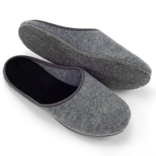 Feltro grigio pantofole 42