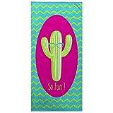 Toallas De Playa Multicolor Con Cactus Gigante