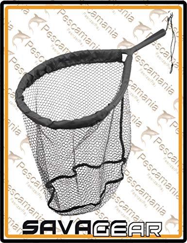 Guadino alluminio Savage Gear rete gommata PRO Finezze Rubber Mesh Net 46x56cm