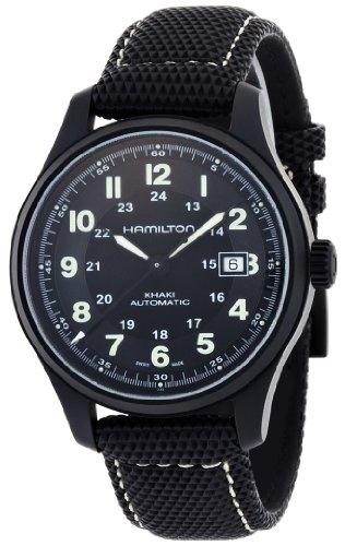 Hamilton Herren Analog Automatik Uhr mit Leder Armband H70575733