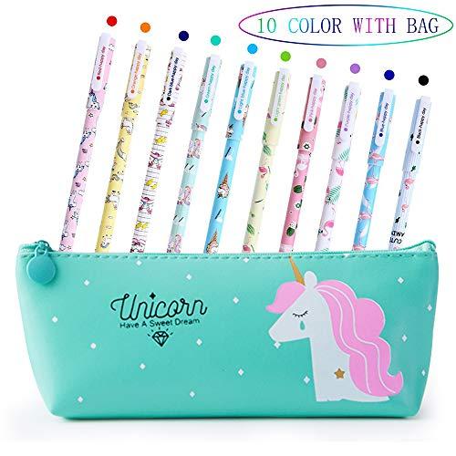 Penne per Unicorno Ragazze Regalo di Compleanno per Bambine, VSTON Simpatiche penne per unicorno Set...