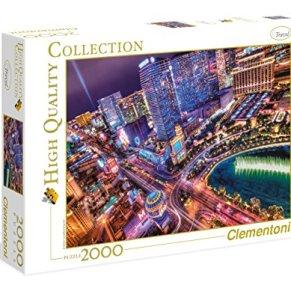 Clementoni- Collection: Las Vegas Los Pingüinos De Madagascar Puzzle, 2000 Piezas, Multicolor (32555)