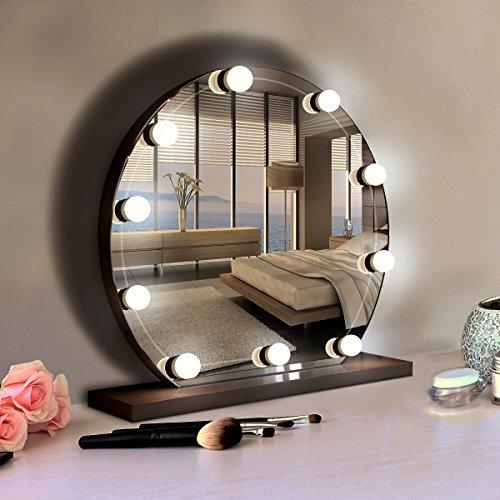 Kit Lluci per Specchio Sunix Stile Hollywood con 10 Lampadine a LED Regolabili, Trucco Specchio...