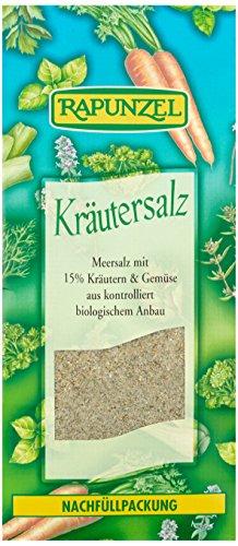 Rapunzel Kräutersalz mit 15{957e44201875fedfcbfad313332e66a0983d05e487ebec48c2ce8ec05d42916f} Kräutern und Gemüse, 1er Pack (1 x 500 g) - Bio