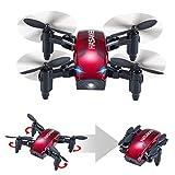 Mini Drone Pieghevole con Controllo Altitudine e Funzione Headless,2.4Ghz Sensore giroscopico a 6 assi RC Quadcopter con 3D FLIPS,Buono per principianti
