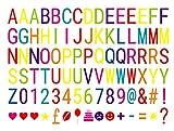 NectaRoy 90 Piezas Colorido DIY Especiales Cinema Signos Símbolos Letras Gráficos Números Emojis para A4 Lightbox Cinematográfico