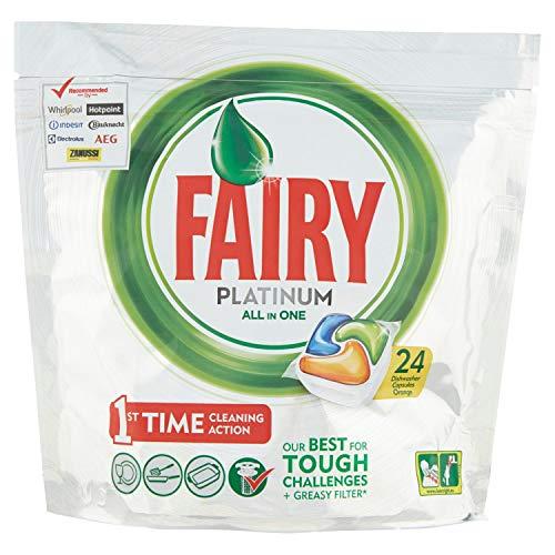 Fairy Platinum Detersivo In Caps per Lavastoviglie, Confezione da 24 Pastiglie, Arancia
