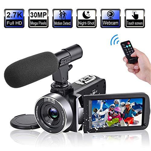 Videocamera Videocamere Full HD 2.7K 30FPS 30MP Vlogging Videocamera Touch Screen da 3.0 pollici...