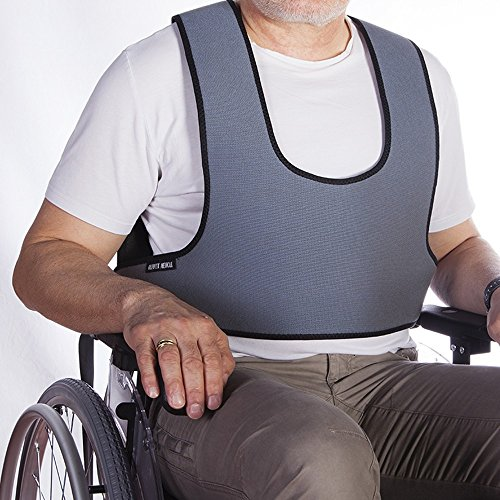 Mobiclinic Arnés Chaleco de sujeción Tipo Peto   para Silla de Ruedas, sillas y sillones de Descanso   para Personas con inestabilidad   Talla 1 (79-168 cm)