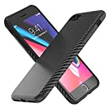 Syncwire iPhone 8 Case iPhone 7 Case, [Carbon Fiber Texture Design] Flexible Protection TPU Phone Cover, Ultra-thin Snap-on Protective Case for Apple iPhone 8/7 - Black