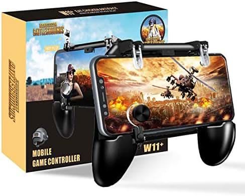 BESTZY PUBG Mobile Game Controller [4 in 1] - Mobile Gaming Triggers Handy Gamepad Joystick Handyhalter, Schießen Empfindlich Handy Controller für Android und iOS 4,7-6,5 Zoll