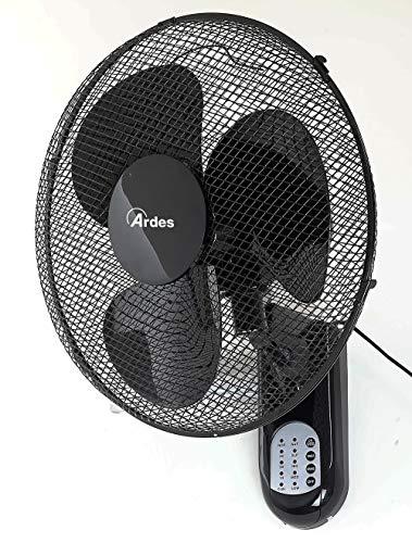 Ardes AR5W40R PARETO Cool RC Ventilatore Oscillante a Parete Pala 40 Cm, con Telecomando, 3 Livelli...