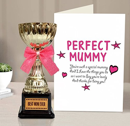 Tied Ribbons Paper Greeting Card with Golden Trophy (15.01 cm x 0.102 cm x 21.99 cm), Multicolour