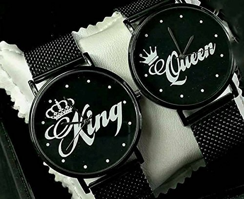 Coppia Di Orologi You And Me King & Queen Elegance (Nero)
