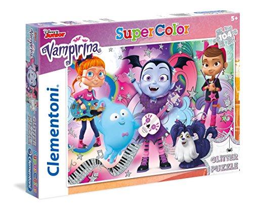 Clementoni-Clementoni-27088-Glitter Puzzle Vampirina-104 pièces Clementoni-27088-Supercolor...