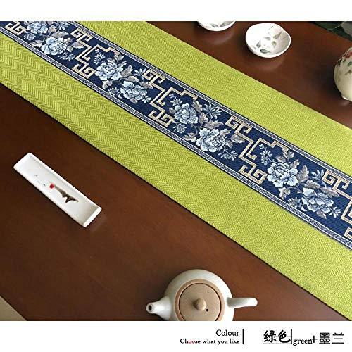 Branfan Nuovo Tavolo da tè Zen Cinese Tavolo da Pranzo Runner Tavolo in Tessuto di Cotone di Cotone...