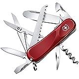 Victorinox Kinder Taschenmesser Junior 03 (15 Funktionen, Runde Feststellklinge, Schere) rot
