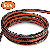 TACKLIFE 50ft PVC Hose, 1/2 inch Diameter PVC Water Hose, Heavy Duty 15m hose, 35 Bar Bursting Pressure, Anti-UV, GWH2B