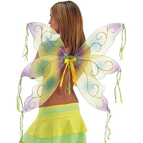 Carnival Toys 05276 - Alas de mariposa (68 x 80 cm), color amarillo y morado