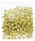 Darice Jingle Bells .25-inch 144/Pkg-Gold, Gold, 144