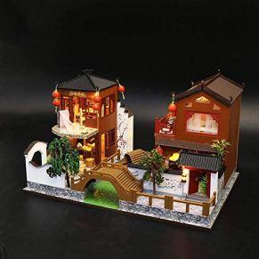 WANNA.ME - Casa de muñecas en Miniatura con Muebles, construcción Transparente para niños y niñas