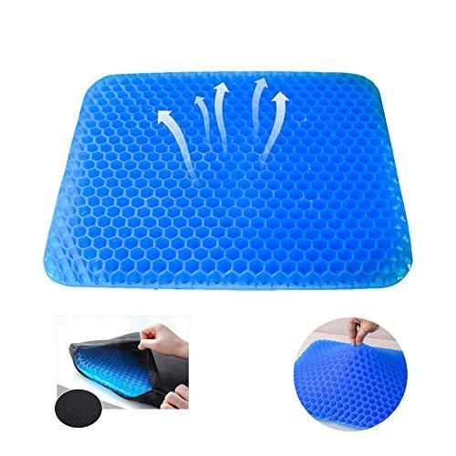 NewMum Cuscino Multifunzionale in Gel, Fresco e Traspirante, Cuscino Elastico per Il Sostegno del Sedile, per alleviare l'affaticamento dell'anca
