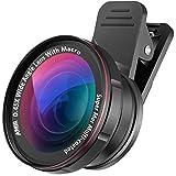 AMIR Lenti Smartphone 2 in 1, Clip-On Lens Cellulare, 0.45X Lenti Grandangolo, 15X Obiettivo Macro con Filo da 37mm per iPhone, Samsung, Huawei, Blackberry, ecc