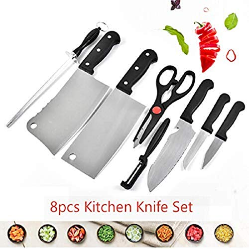 SHOPPOZONE8 Piece Stainless Steel Kitchen Knife Knives Set with Knife Scissor Fruit Slicer for Kitchen Plastic and Rusting-Free Heavy Apple Cutter King