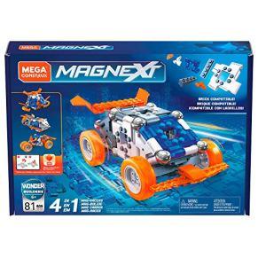 Mega Construx Magnext 4 en 1 Mag-Racers, juego de construcción con imanes para niños +5 años (Mattel GFF25) , color…