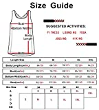 icyzone Damen Sport Tops mit Integriertem BH - 2 in 1 Yoga Gym Shirt Fitness Training Tanktop (M, Black)