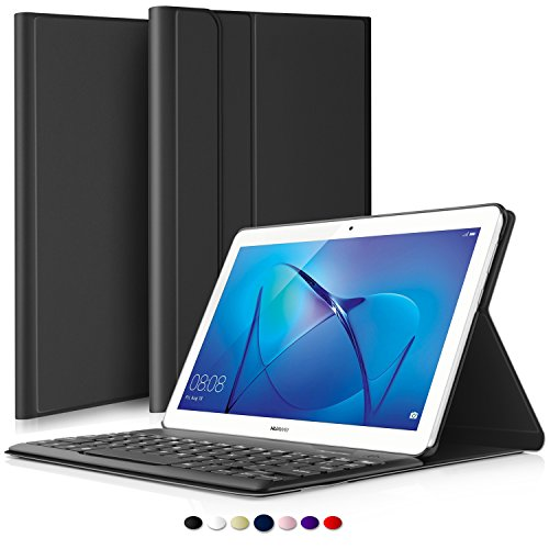 IVSO Huawei MediaPad T3 10 QWERTY Bluetooth Tastiera Portfolio - Detachable Bluetooth Copertura...
